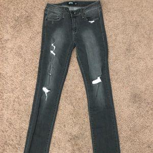 Express Just Black Skinny Jeans